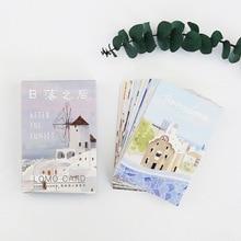 28 sheets/Set Sunset in European cities Mini Postcard /Greeting Card/Message Card/ Kids Gift Postcard Kawaii Stationery