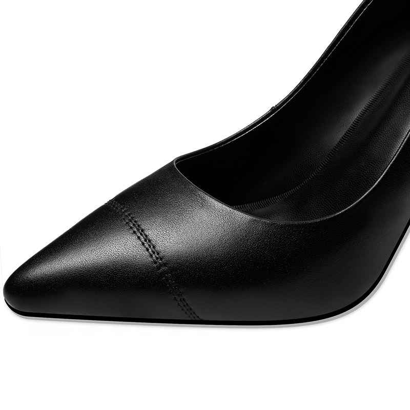 ALLBITEFO genuine leather super high heel shoes casual fashion comfortable women heels high heel shoes zapatos mujer tacon