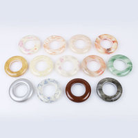 5 Sets Plastic Curtain Tie Rings Rods Ring Eyelet Clips Grommet For Curtain Accessories Home Decor