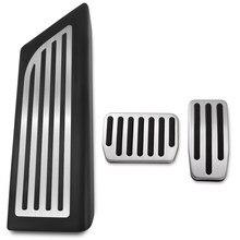 Nenhuma perfuração para tesla model 3 2017-2019 gás combustível freio pé resto pedal almofadas esteiras capa acessórios do carro estilo