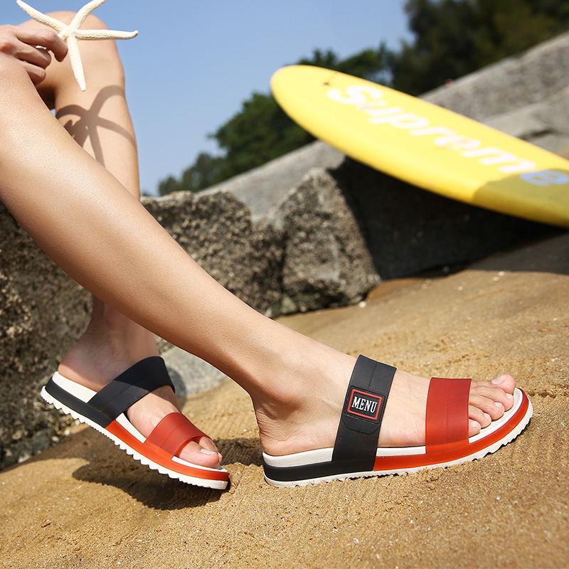 LAISUMK Summer Beach Men Slippers Casual Shoes Double Buckle Man Slip on Flip Flops Flats Camouflage Flip Flop Indoor & Outdoor 106