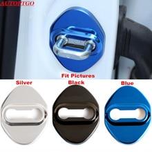 цена на Set of 4Pcs Anti Rust Catch Door Lock Protective Cover Kit Fits Most of Toyota Corrola Rav4 Camry Highlander CHR