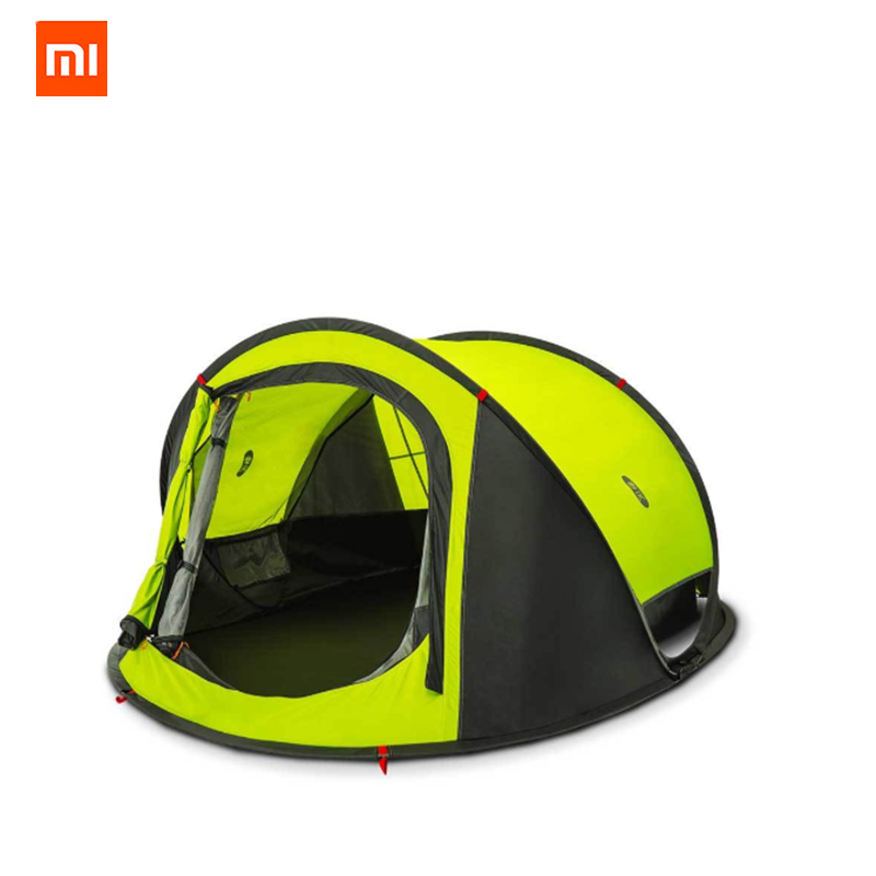 Xiaomi Zaofeng 3-4 People Automatic Camping Tent Outdoor Waterproof Double Layer Canopy Sunshade Fast Installing цена 2017
