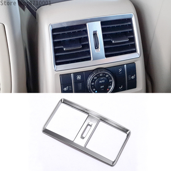 For Mercedes Benz GLE GLS 15-17 W164 X164 ML GL 13-16 ABS Chrome Armrest Rear Air Conditioning Outlet Vent Cover Trim