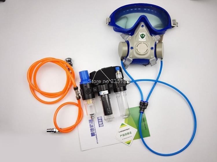 DDE-BI complete set of Circulating air supply use gas mask 6800 7502 6200 or SJL full gas mask головка dde гм 50