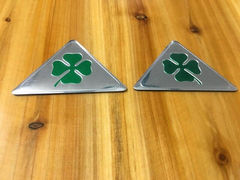 Alfa Romeo quatrefoil green delta Car Side Fender Emblem Badge - Accesorios de interior de coche - foto 2