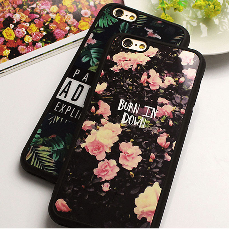 Fashion Cute Mirror Case For iphone X 7 Plus 6 6s Plus Flower Soft Silicone Funda Cover For iPhone 5SE 8 6s 7 Plus SE 5s Cases