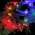 8 Modos de 20 LED Al Aire Libre Del Banquete de Boda y Fiesta de la Libélula Forma Lámpara de La Secuencia Solar Luces de Jardín Patio Decoración de Interior