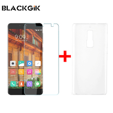 Elephone S3 Tempered Glass Film With Plastic Back Case Screen Protector Film and Hard Shell For Elephone S3 Cellphone
