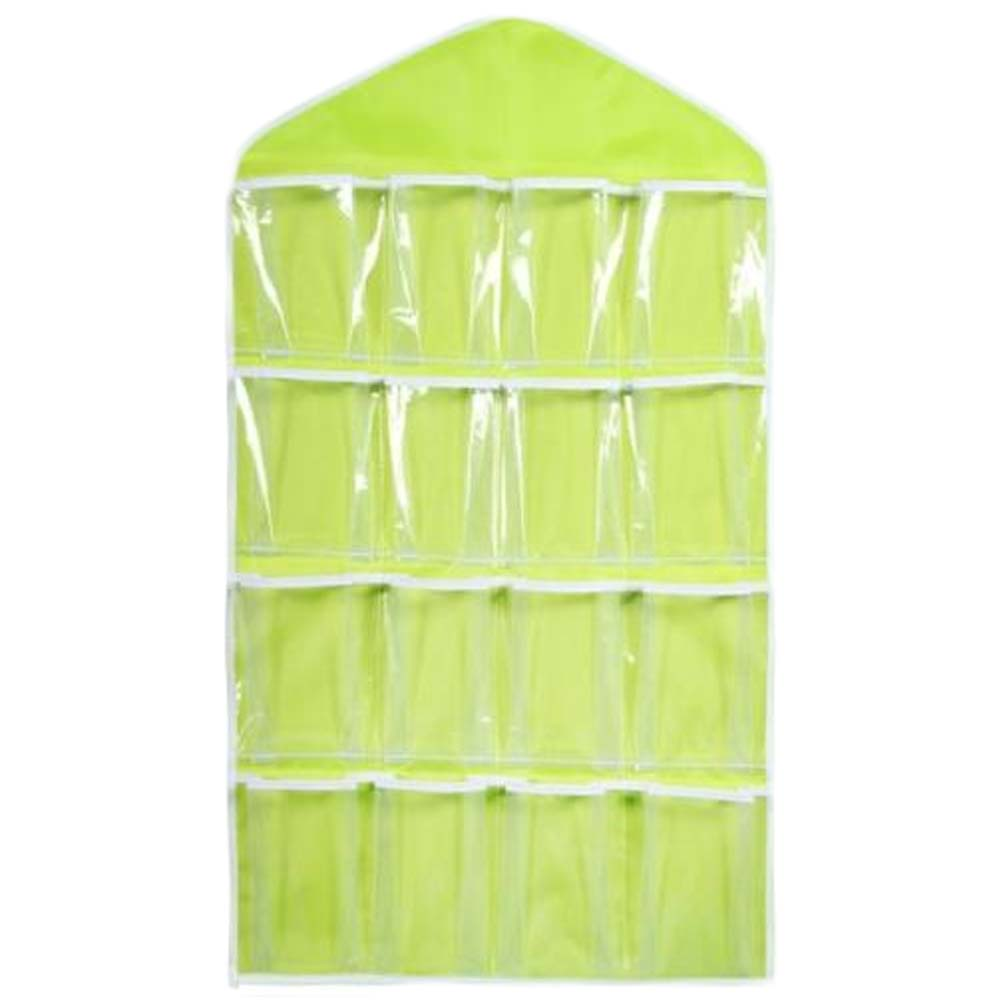 16 Grid Wardrobe Wall Hanging Jewelry Sundries Storage Bags Pockets Cabinet Bag Socks Underwear Cosmetics Slippers Organizers