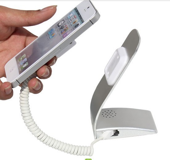 ФОТО Hot Cell mobile Phone store Security Anti-theft Display Alarm alert stand holder shelf, with charger/ Alarm/ aluminium stand