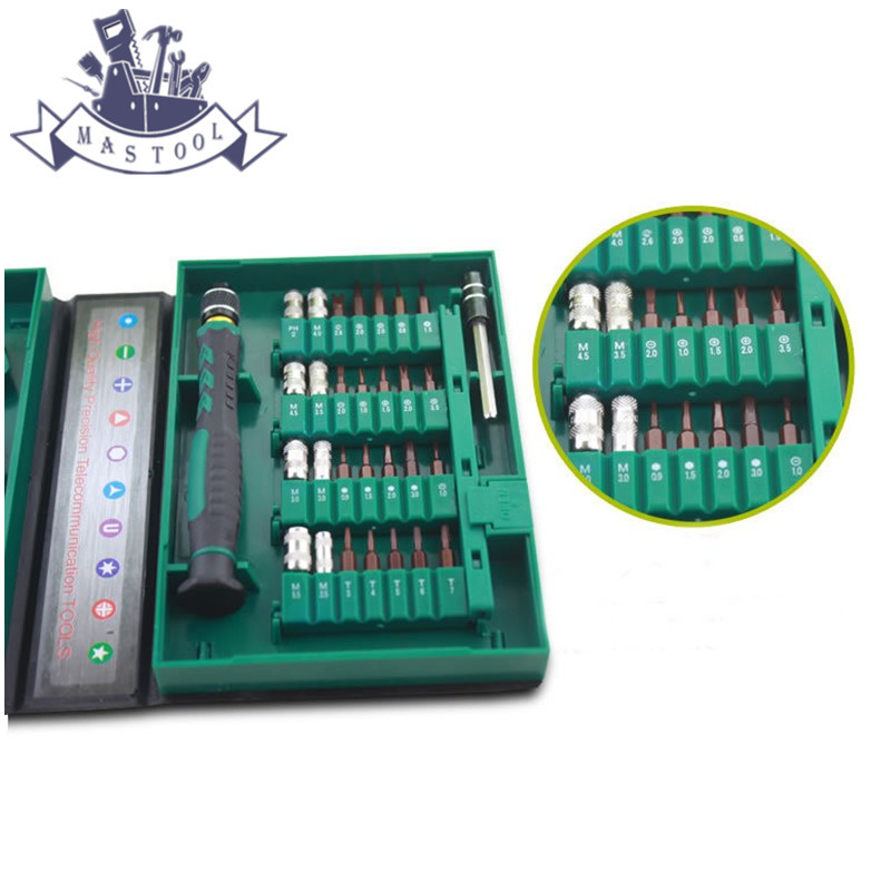цены  38 in 1 Premium Screwdriver Set Repair Tool Kit Universal Precision Magnetic Opening Set for Computer Laptops Cell Phone Watch