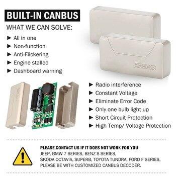 Suntur 100วัตต์6000พันสีขาวH4 9003 HB2 CanBusผิดพลาดไฟLED  Fanlessไฟหน้าหลอดไฟชุด