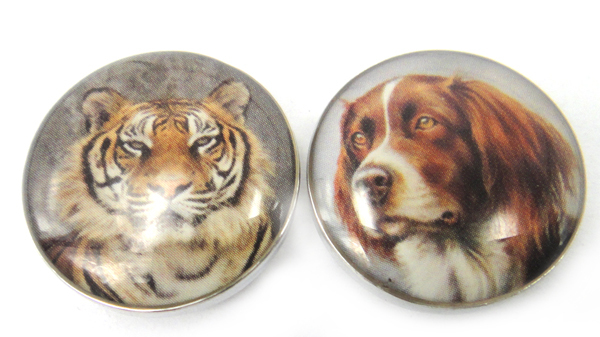 MOODPC Tiger Charm Button Animal-Dog DIY And Hot-Selling