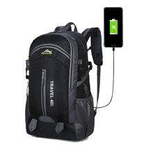 New 40L Sport Bag Men Nylon Travel Backpack Women Outdoor Waterproof Hiking Large Capacity Camping Mountaineering Bagpacks
