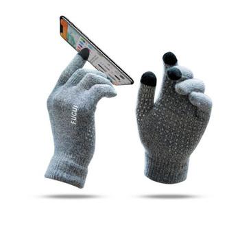 Gorąca sprzedaż zima Outdoor Sports Running Glove ciepły ekran dotykowy siłownia pełne rękawiczki dla mężczyzn kobiety dzianiny magiczne rękawiczki tanie i dobre opinie Z wełny Outdoor Sports Running Gloves Winter Fitness Gloves Knitted Grey Red Black Free Size Gym Weight Lifting Pull Up Exercise Fitness