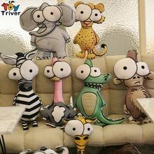 Cute Plush Flamingo Giraffe Zebra Lion Elephant Monkey Crocodile Stuffed Animal Pillow Cushion Doll Baby Kids Toys Home Decor