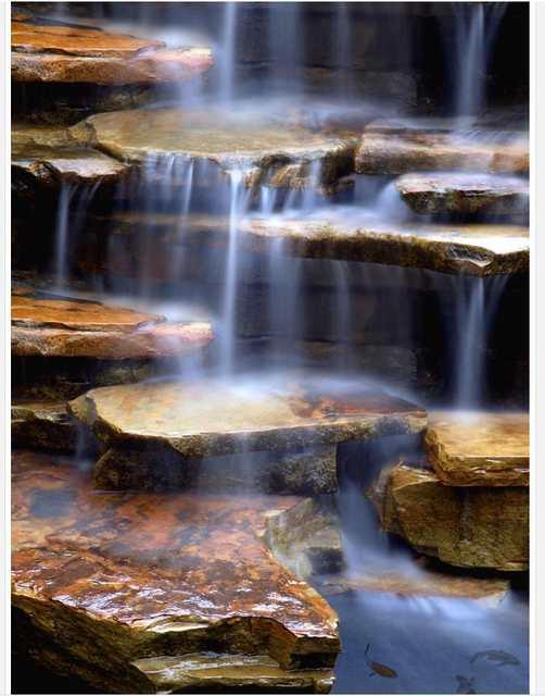 Us 21 0 58 Off Hauptdekoration Stein Wasserfall Wohnzimmer Badezimmer 3d Bodenbelag 3d Pvc Tapete Wasserdicht Wandmalereien In Tapeten Aus