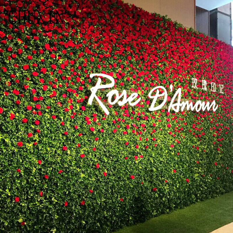 Simulation Rose Lawn Wall Decoration Fake Flower Home Party Hotel Celebration Wedding Festival Road Decoration 9pcs