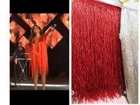 top selling beaded Fringe Ribbon Trim Fringe Tassel Lace Trim JRB 122121 for party dress