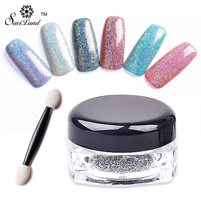 Aliexpress Saviland 1 Box Laser Silver Holographic Powder Dust Acrylic Nails Art Glitter Tips Gel Uv Polish Nail From