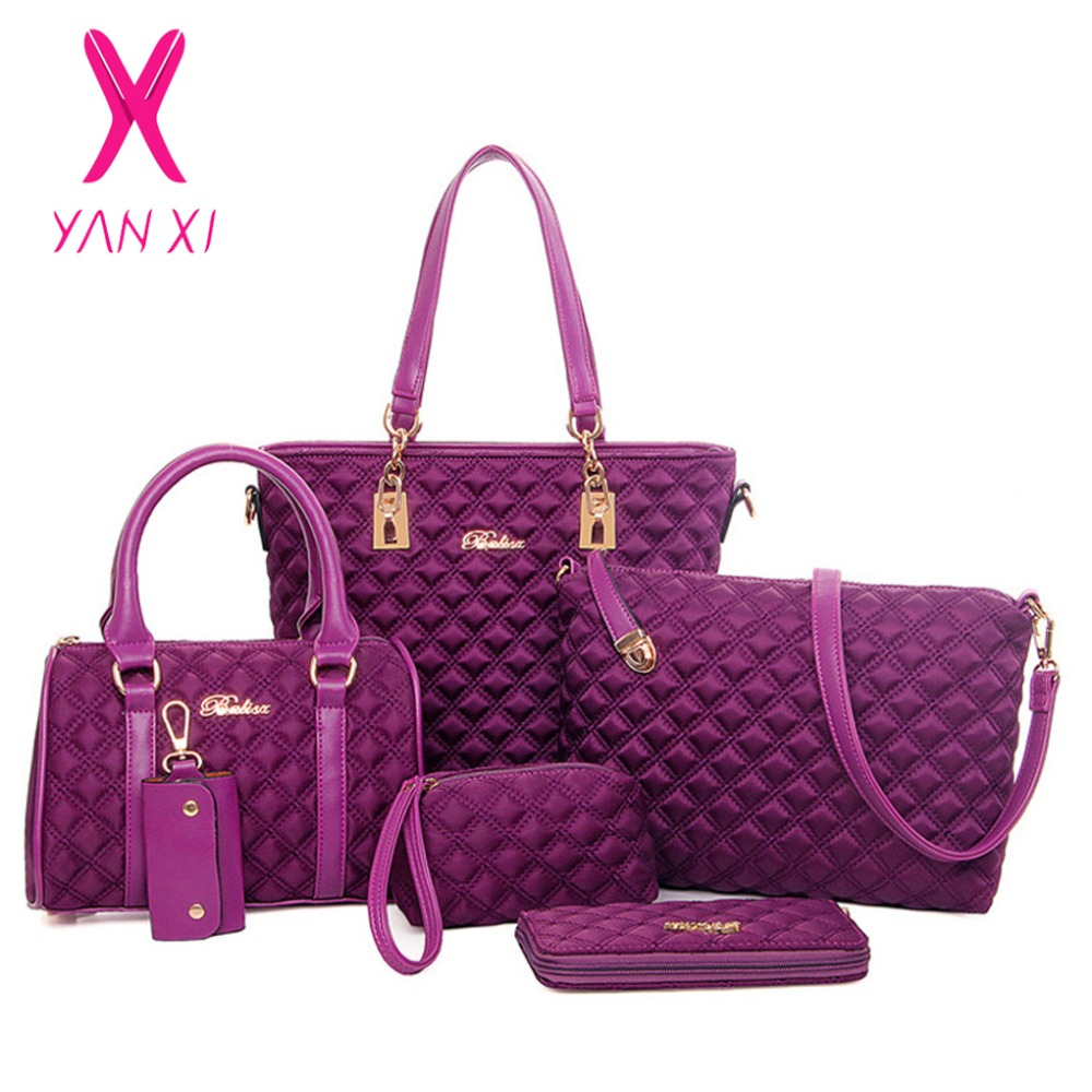 YANXI Factory outlets bolsos mujer Classic luxury 6 sets fashion Diamond Lattice women Oxford cloth messenger shoulder bags factory outlets opening film ru ru tea sets italics kit logo new custom large favorably