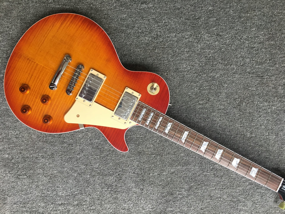 New arrival in stock matte color lp electric guitar with one piece body and neck lp guitar for sell