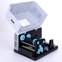 Hi-Q barcode printer 203DPI and 108mm printing width support Jewelry Tag, washed tags with free software