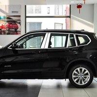 Автомобиль ABS оконной рамы Планки укладки Чехлы для BMW X1 X3 X5 X6 отделкой аксессуары 2010 2016