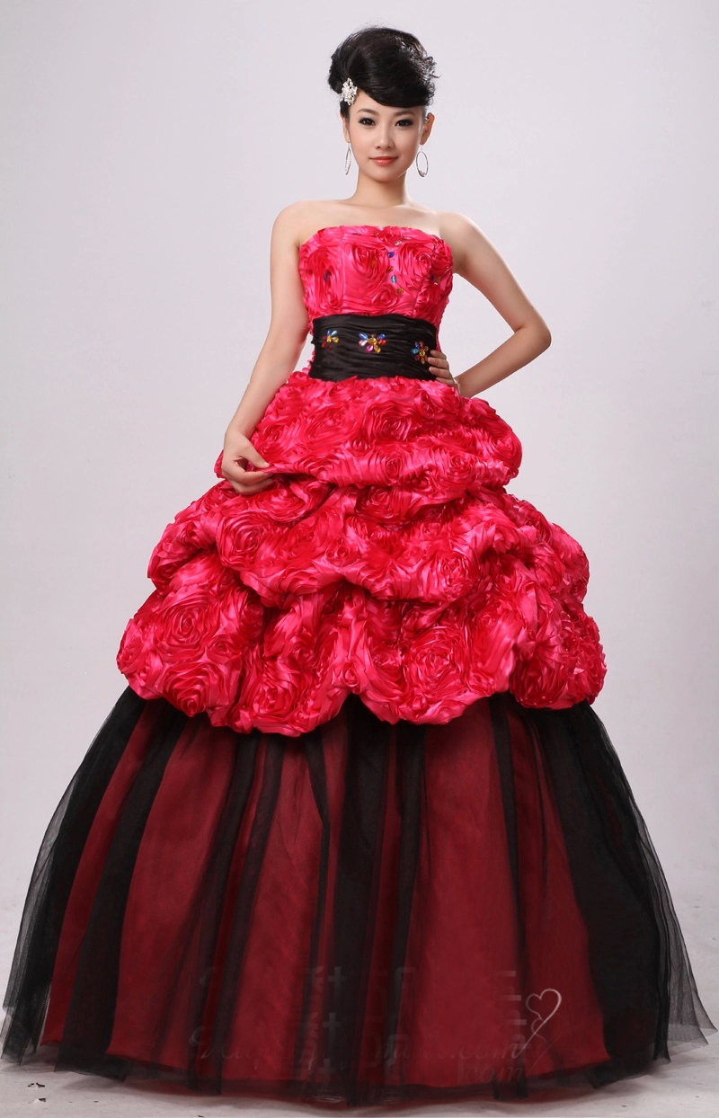 us 99.0 |100 nyata pink black rose bunga manik manik gaun abad  pertengahan renaissance gaun putri victorian/marie antoinette bell ball  gown on