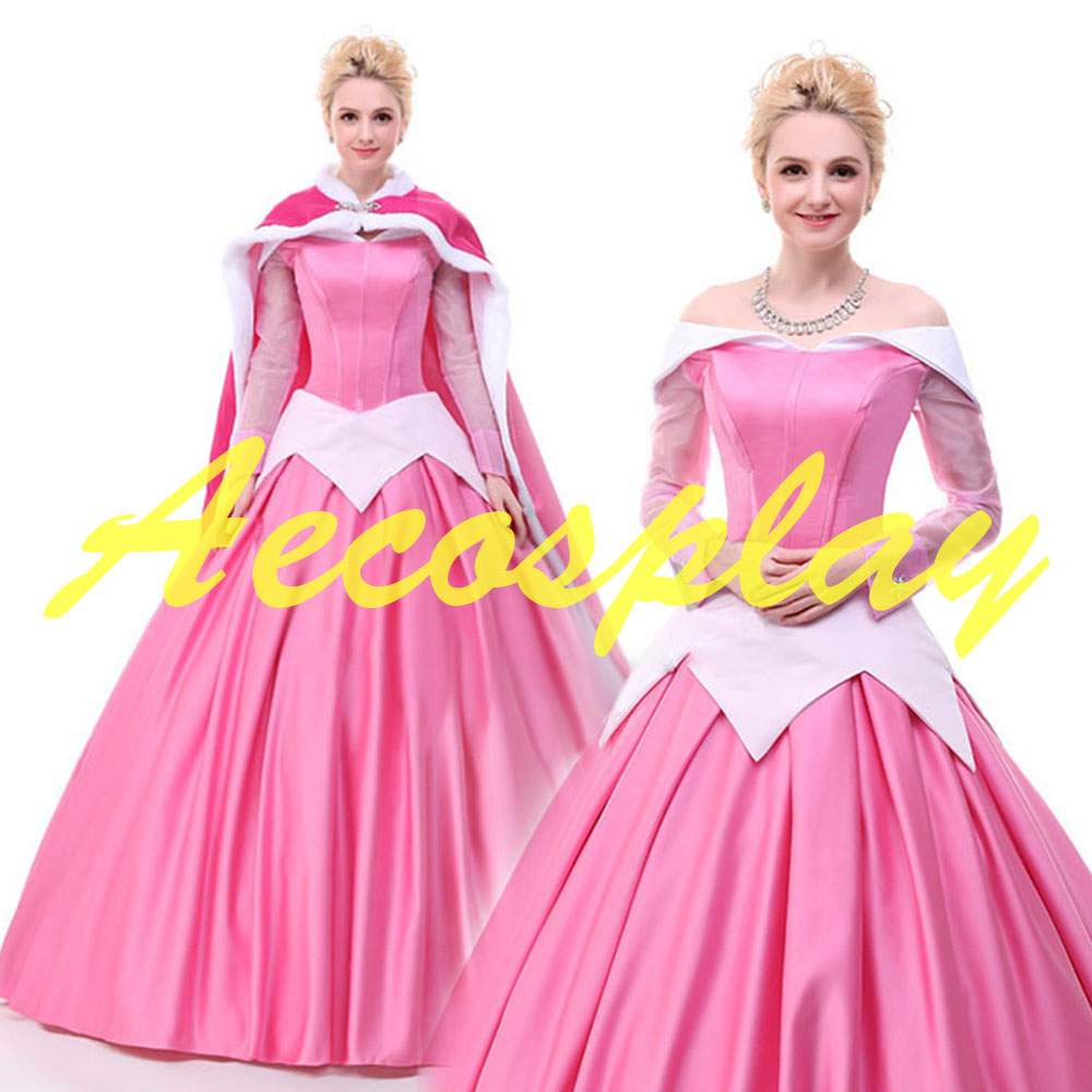 2017 Princess Costumes  Adults Aurora Sleeping Beauty Dress Costumes Princess Aurora Dress Adult Sleeping Beauty Cosplay Dresses number