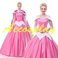 2017 Princess Costumes Adults Aurora Sleeping Beauty Dress Costumes Princess Aurora Dress Adult Sleeping Beauty Cosplay Dresses