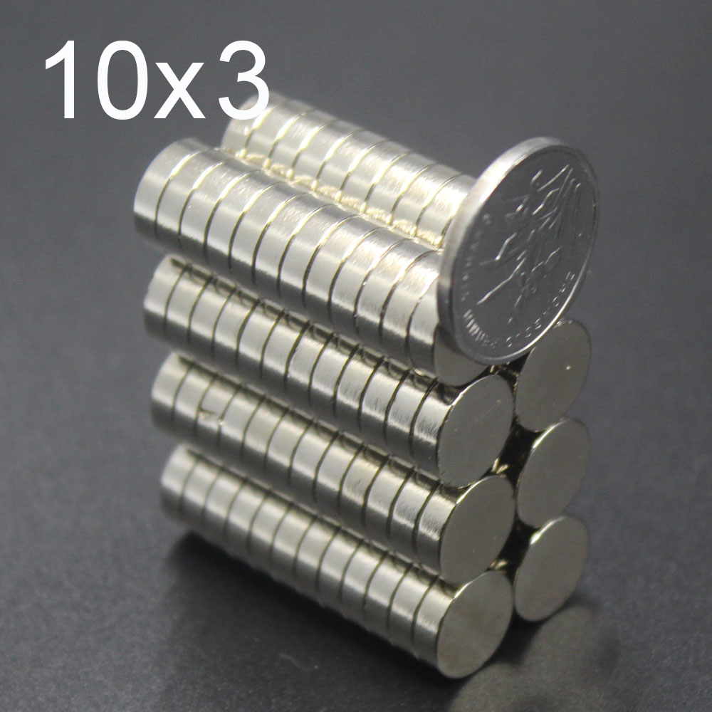 10/20/50Pcs 10x3 Neodymium Magnet 10mm x 3mm N35 NdFeB Round Super Powerful Strong Permanent Magnetic imanes Disc 10x3(China)