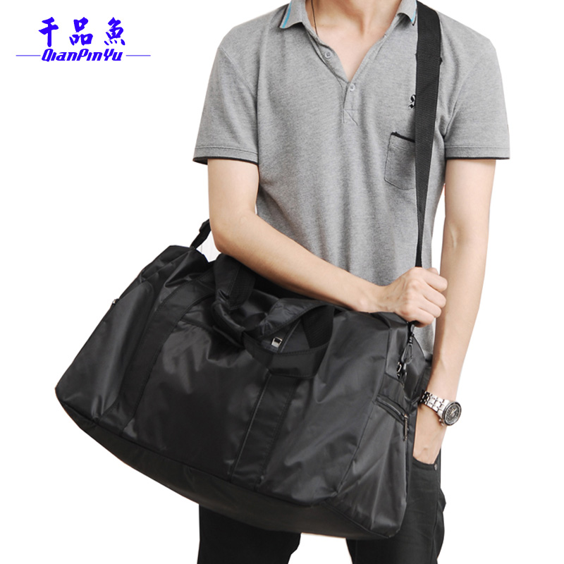 Free shipping 2017 large capacity nylon sports bags luggage shoulder crossbody gym bag portable travel duffle bag items TB62