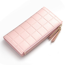 New Fashion Pu Leather Women Clutch Wallets Zipper Large Capacity Hand Strap Female Wallet Luxurious Business Solid Ms Purses cartera mujer porte feuille femme monederos para portafoglio donna portefeuille femme