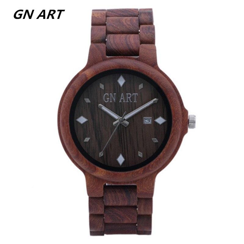 019 Woodwatch Männer Luxus Marke Sandale Holz Herren Quarz Uhren Mode Natürliche Rundevintage üPpiges Design