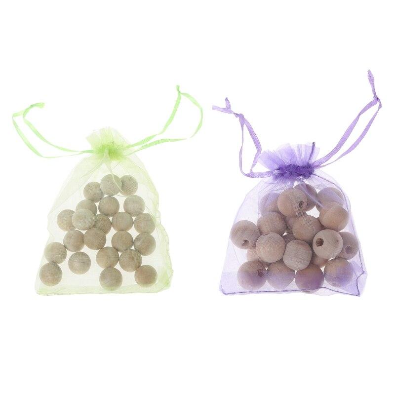 2018 New Camphor Balls 20Pcs Durable Smell Cedar Round Balls Clothes Drawer Storage Boxe ...
