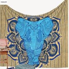 GGGGGO HAUSE, Elepahant Tapestry Indischen Hängen Wandteppiche 130 cm x 150 cm/150 cm x 210 cm GRÖßE Blatt tapices