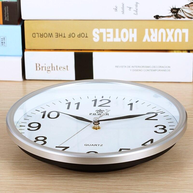 전원 브랜드 10 인치 / 12 인치 벽 시계 자동 석영 - 가정 장식 - 사진 2