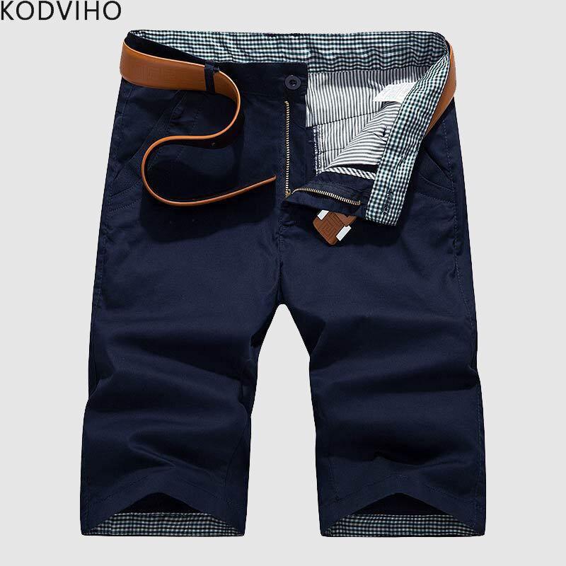 Shorts Man Pantalon Mens Summer Plus-Size Cotton Casual Fashion 8XL Corto 6XL Solid Slim
