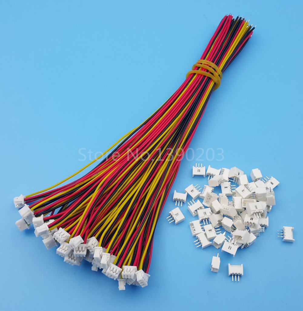 50Sets 3 Pin Single End SH Pitch 1.25mm 15cm 28AWG Micro Wire To Board Connector