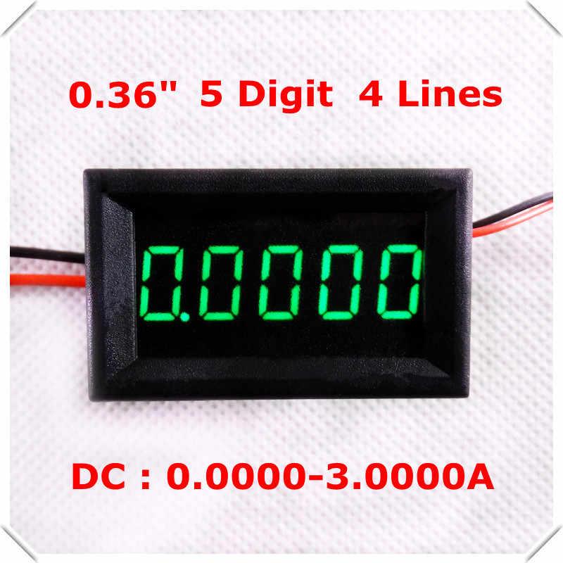 "Rd 0.36 ""デジタル電流計dc 0-3.0000a 4線5桁電流パネルメーターled表示色[4ピース/ロット]"