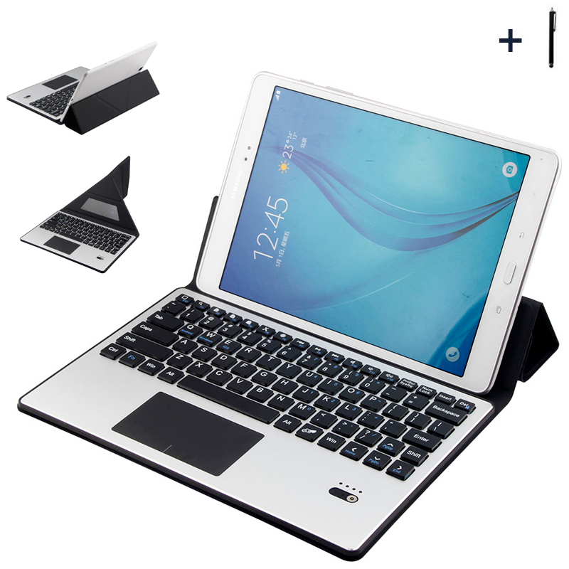 Bluetooth Keyboard For Huawei 9/10 inch Universal Tablet Case For ASUS Lenovo 10'' Tablet Flip Leather Stand Cover+Pen universal removable bluetooth keyboard folio case cover for lg g pad 10 1 v940 x 10 1 v930 x 10 1 ii uk750 2016 release tablet