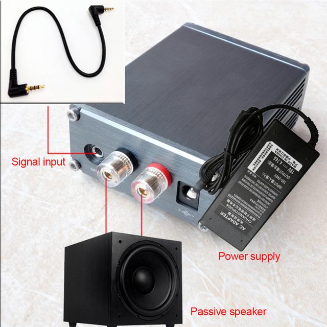 Aiyima 100W TPA3116 Subwoofer Audio Amplifier TPA3116D2 Mono Digital Power Amplifiers NE5532 OP AMP With Case