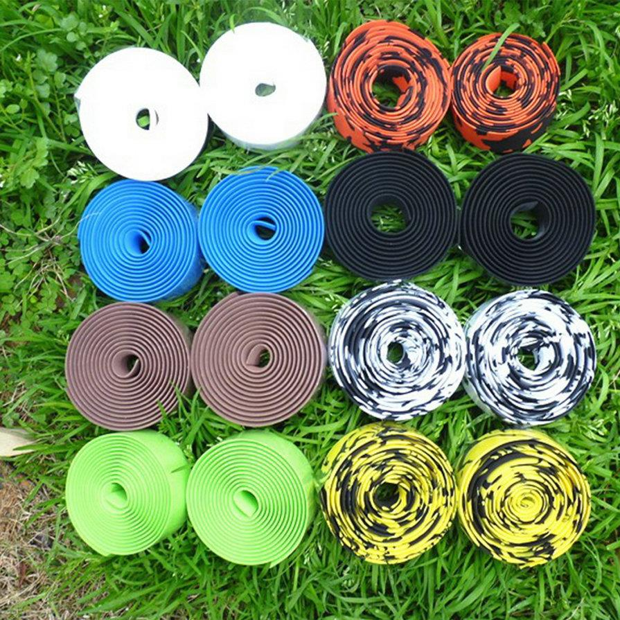 Ciclismo Handlebar Tape 1 Pair Colorful Cycling Handle Belt Bike Bicycle Cork Handlebar Tape Wrap 2 Bar Hot nuckily r007 bike bicycle pu handlebar tape belt wrap white page 5 page 3