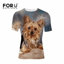 FORUDESIGNS 3D Shih Tzu Dog T-shirt Mens Clothing Summer t shirts Men Casual Bodybuilding Elastic Tees Novelty XS S M L XL XXL