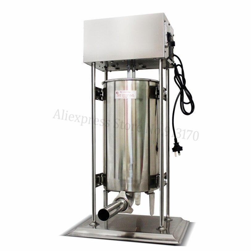 Commercial 25L Electric Automatic Sausage Stuffer Salami Maker 220V/110V Sausage Filling Machine 120W