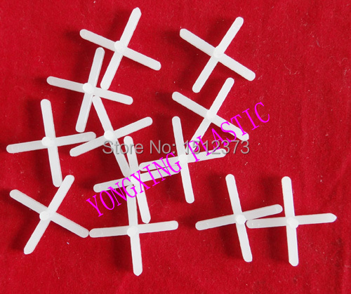 100pcs/bag 3.0mm With Handle Plastic Cross/ Tice Spacer/tracker/locating/ceramic Cross  White Color Locate The Ceramic Tile