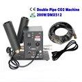 1PC Double Nozzle Co2 Machine Jet Stage Light,Large-Sized CO2 Jet device,Wedding Fog Machine,6m Gas Hose,DMX512 disco DJ Gun