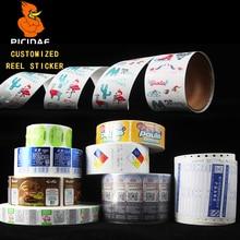 Ad LOGO QR Code Label Custom Trademark Laser Seal Food Liqueur Bag Bottle Box Takeaway Design Print Writing Paper Sticker Reel
